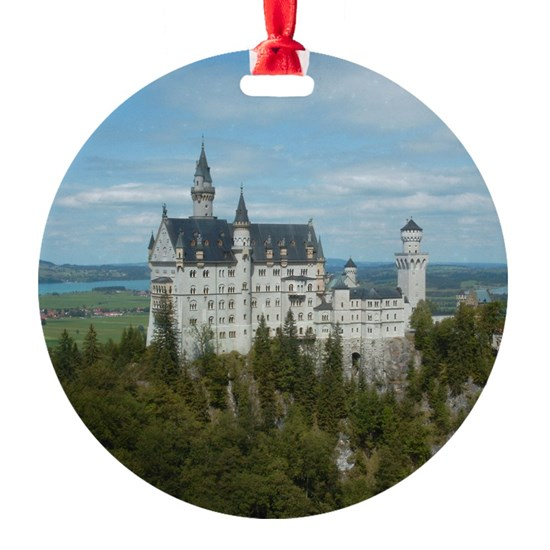 Neuschwanstein Castle Round Ornament by Christine aka stine1 on Cafepress