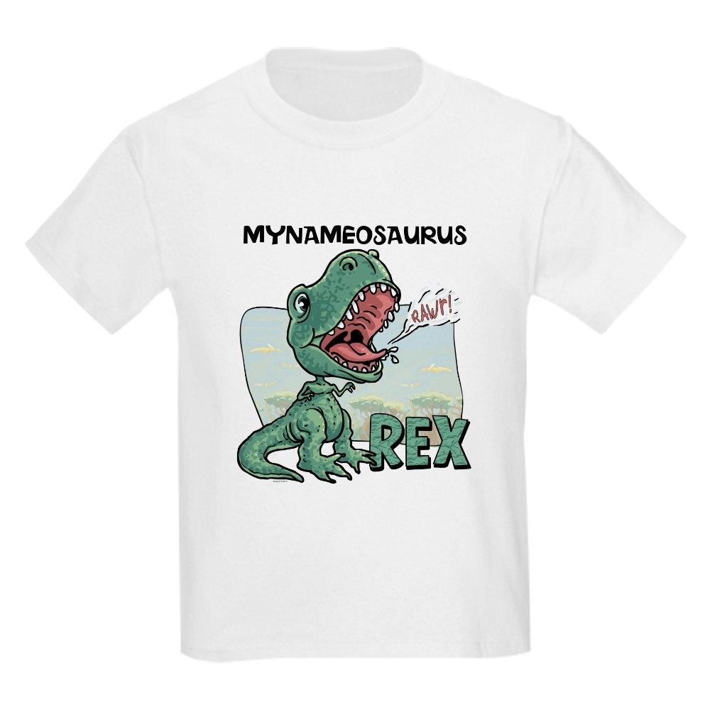 b8ec927f Newest Custom T Rex Kids Light T-Shirt Personalizable T-Rex Kids ...
