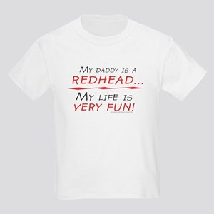 My Daddy is a Redhead Kids Light T-Shirt