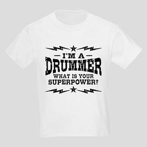 f8e2537f Funny Drummer Kids Light T-Shirt