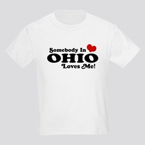 Somebody in Ohio Loves Me Kids Light T-Shirt