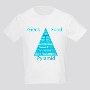 Greek Food Pyramid Kids Light T-Shirt