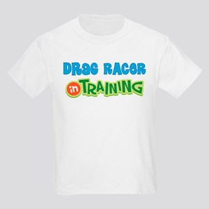 Drag Racer in Training Kids Light T-Shirt