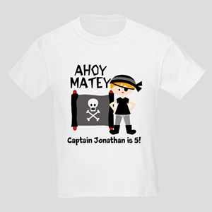 Blond Boy Pirate Customized Kids Light T-Shirt