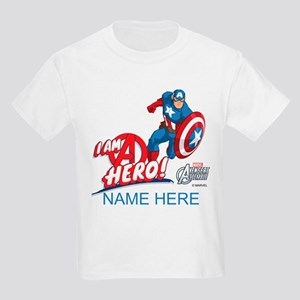Avengers Assemble Captain Ameri Kids Light T-Shirt