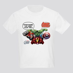Avengers Assemble Personalized Kids Light T-Shirt