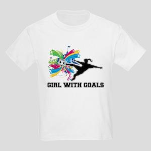 Girl with Goals Kids Light T-Shirt