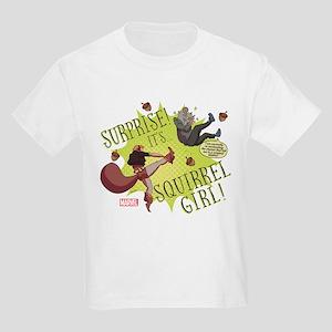 Squirrel Girl Fighting Crime Kids Light T-Shirt