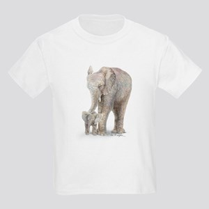 Mother and baby elephant Kids Light T-Shirt