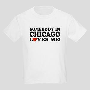 Somebody in Chicago Loves Me Kids Light T-Shirt
