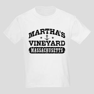 Martha's Vineyard Massachusetts Kids Light T-Shirt