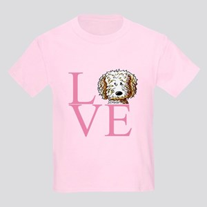 KiniArt Doodle Love Kids Light T-Shirt