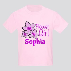 Customized Flower Girl Kids Light T-Shirt