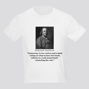 Ben Franklin Contest the Vote Quote Kids T-Shirt