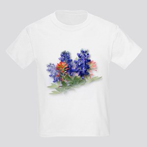 Bluebonnets with Indian Paint Kids T-Shirt