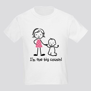 Big Cousin - Stick Characters Kids Light T-Shirt