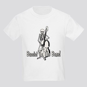 Skeleton Upright Bassist Kids Light T-Shirt