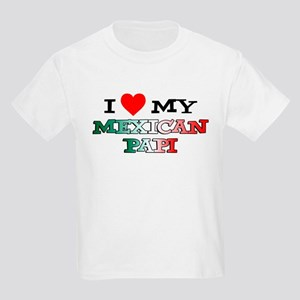 I Love Mexican Papi Kids Light T-Shirt