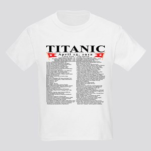 Titanic Ship Statistics Kids Light T-Shirt