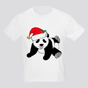 Christmas Panda Kids Light T-Shirt
