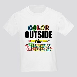 Color Outside The Lines Kids Light T-Shirt