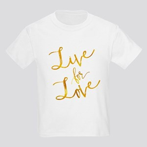 Live For Love Gold Faux Foil Metallic Moti T-Shirt