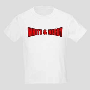 White & Nerdy Kids T-Shirt