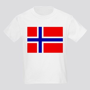 Norwegian Flag Kids Light T-Shirt