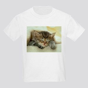 sleeping kitty Kids Light T-Shirt