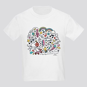 Snoopy Skating to Music Kids Light T-Shirt