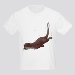 Otter Swim White T-Shirt