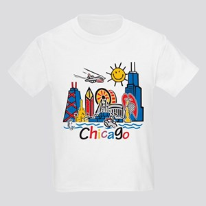 Chicago Cute Kids Skyline Kids Dark T-Shirt