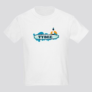 Tybee Island GA - Surf Design. Kids Light T-Shirt