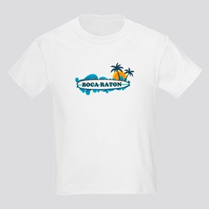 Boca Raton - Surf Design. Kids Light T-Shirt