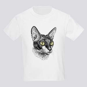 Cornish Rex Sketch Kids Light T-Shirt