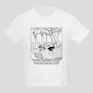 A Philosopher in the Woods Kids Light T-Shirt