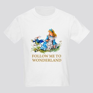 FOLLOW ME TO WONDERLAND Kids Light T-Shirt
