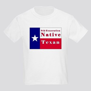 8th Generation Native Texan Flag Kids Light T-Shir