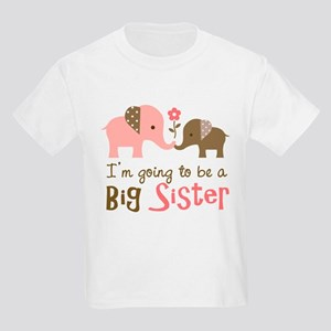 Big Sister to be - Mod Elephant Kids Light T-Shirt