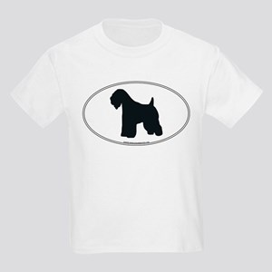Wheaten Terrier Silhouette Kids T-Shirt