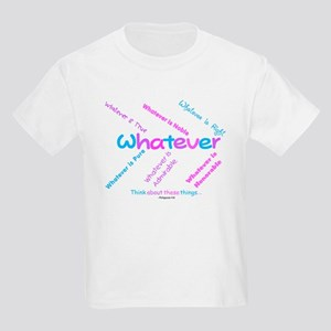 Whatever - Light Blue, Purple Kids T-Shirt