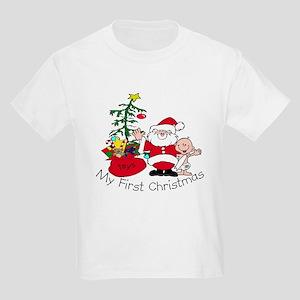 7b5e81de First Christmas Santa & Baby Kids Light T-Shirt