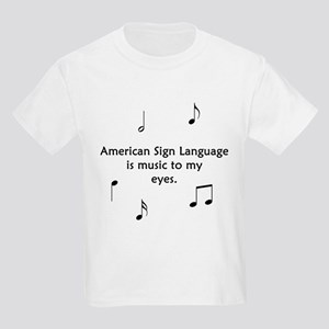 Deaf Music Kids Light T-Shirt