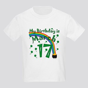 St. Patrick's Day March 17th Birthday Kids Light T