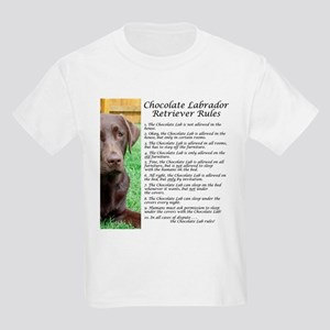 Chocolate Lab Rules Kids Light T-Shirt