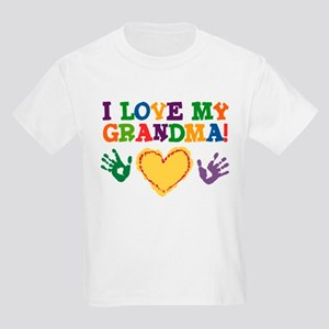 I Love My Grandma Kids Light T Shirt