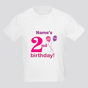 Custom 2nd Birthday Girl Kids Light T Shirt