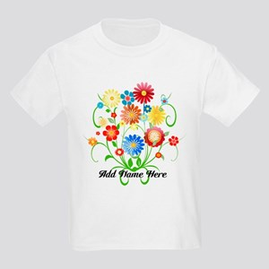 Personalized floral light Kids Light T-Shirt