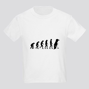 Humans evolve into penguins Kids Light T-Shirt