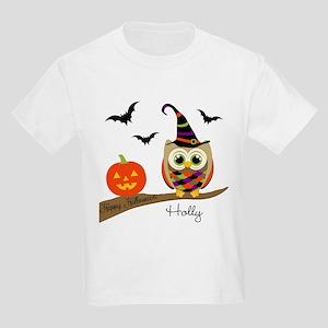 2cadf14fa Custom name Halloween owl Kids Light T-Shirt